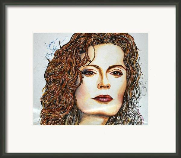 Susan Sarandon Framed Print By Joseph Lawrence Vasile