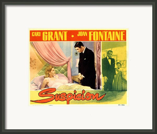 Suspicion, Joan Fontaine, Cary Grant Framed Print By Everett