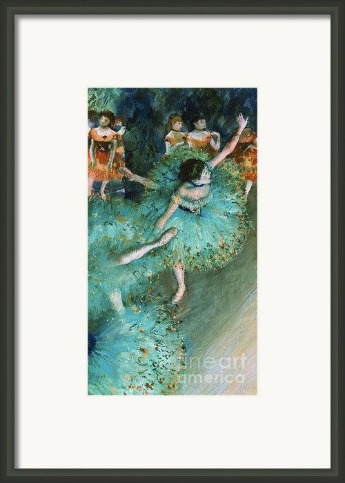 Swaying Dancer In Green Framed Print By Pg Reproductions