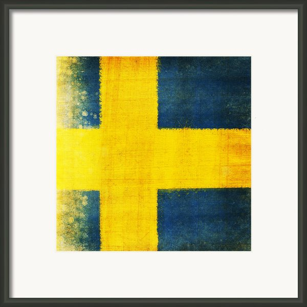Swedish Flag Framed Print By Setsiri Silapasuwanchai