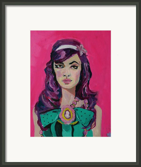 Sweet Like Barbie Framed Print By Adam Kissel
