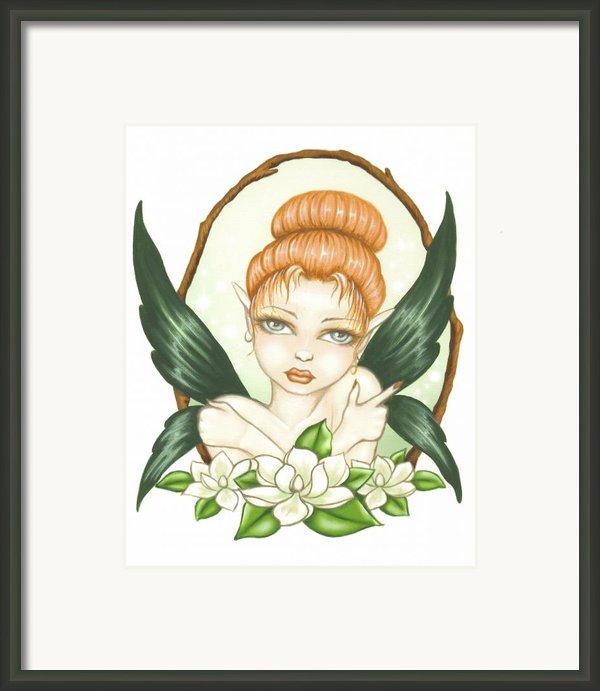 Sweet Magnolia Fae Framed Print By Elaina  Wagner