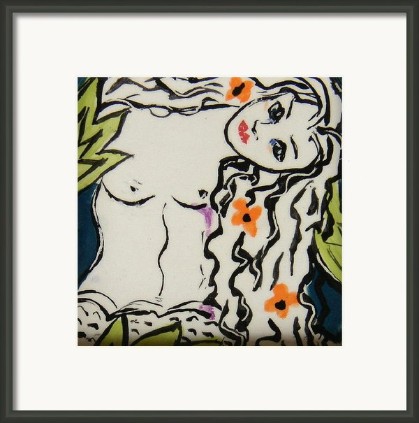 Sweet Mermaid Framed Print By Patricia Lazar
