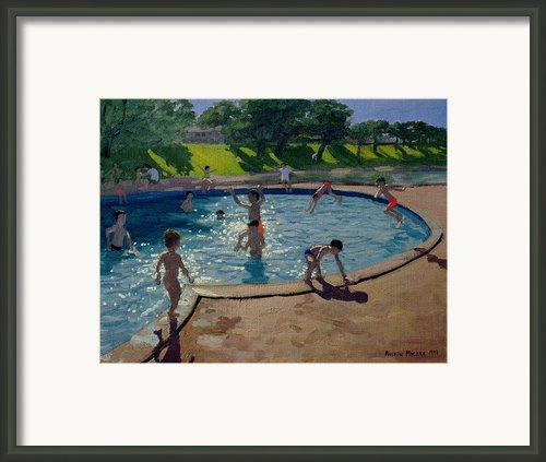 Swimming Pool Framed Print By Andrew Macara
