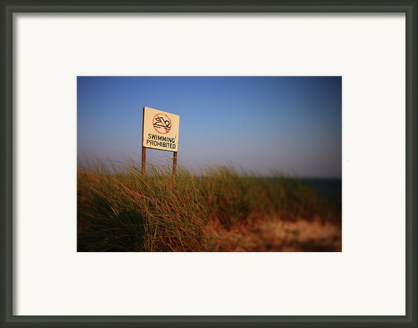 Swimming Prohibited Framed Print By Rick Berk