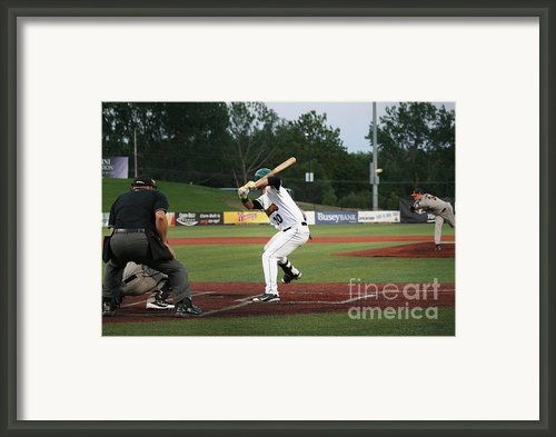 Swing Batter Framed Print By Roger Look