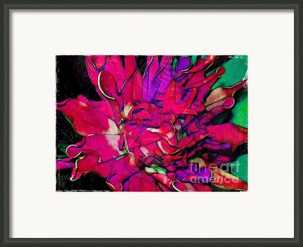 Swirly Fabric Flower Framed Print By Judi Bagwell