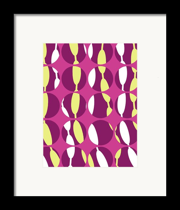 Swirly Stripe Framed Print By Louisa Knight