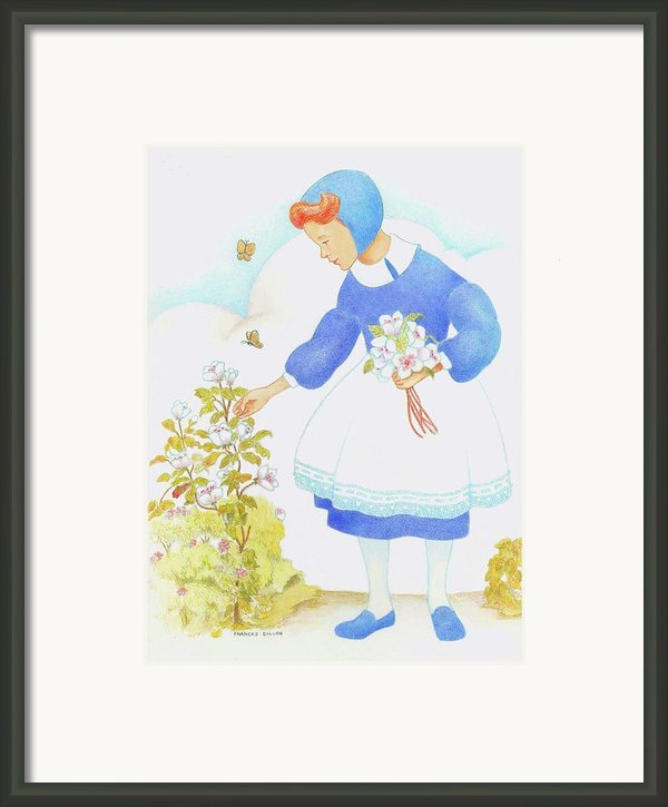 Swiss Miss Framed Print By Frances  Dillon