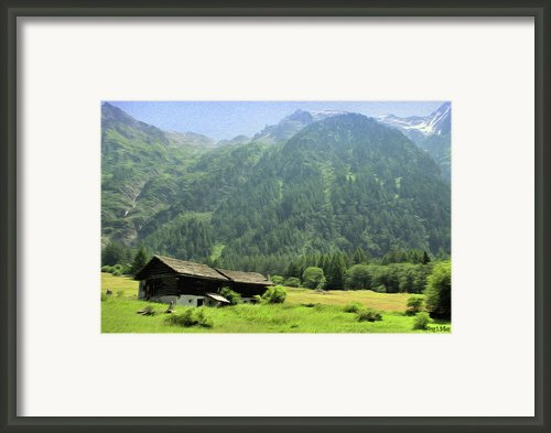 Swiss Mountain Home Framed Print By Jeff Kolker