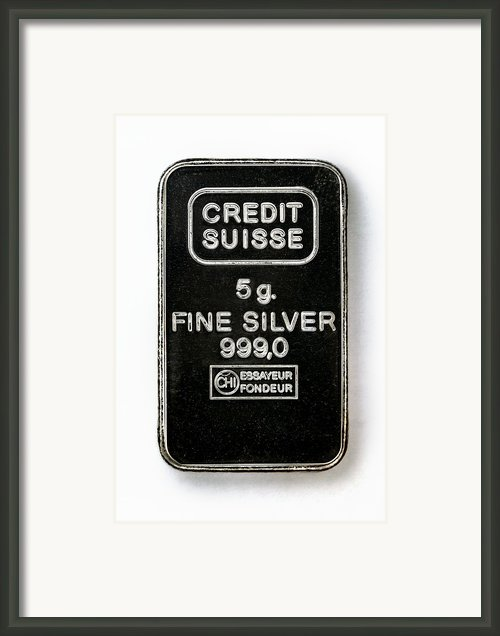 Swiss Silver Bar Framed Print By Laguna Design