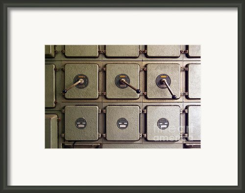 Switch Panel Framed Print By Carlos Caetano