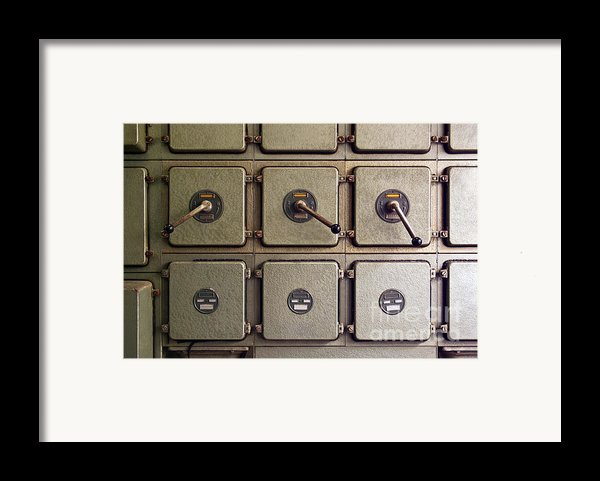 Switch Panel Framed Print By Carlos Caetano