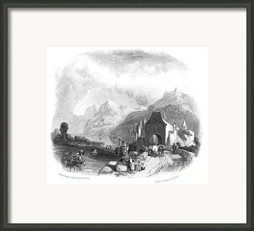 Switzerland: Villeneuve Framed Print By Granger