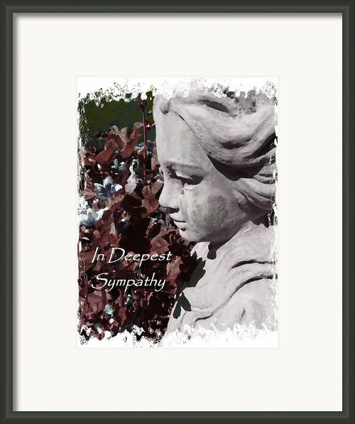 Sympathy Angel Card Framed Print By Cindy Wright