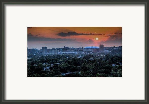 Syracuse Sunrise Framed Print By Everet Regal