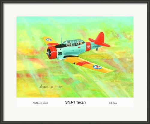 T-6 Texan Framed Print By Dennis Vebert