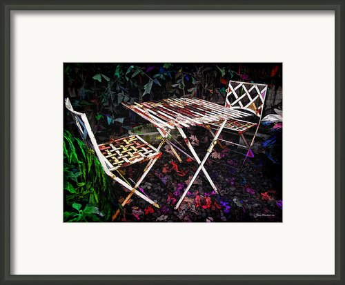 Table And Chairs Framed Print By Joan  Minchak