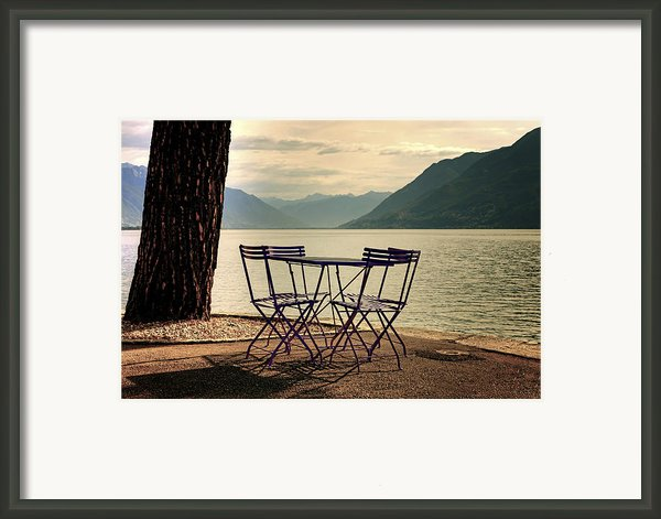 Table And Chairs Framed Print By Joana Kruse