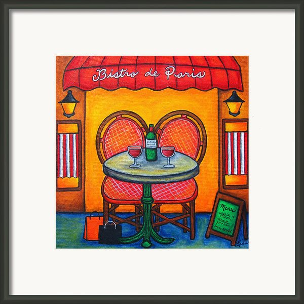 Table For Two In Paris Framed Print By Lisa  Lorenz