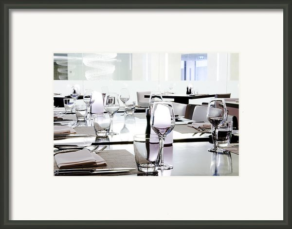 Table Setting Framed Print By Setsiri Silapasuwanchai