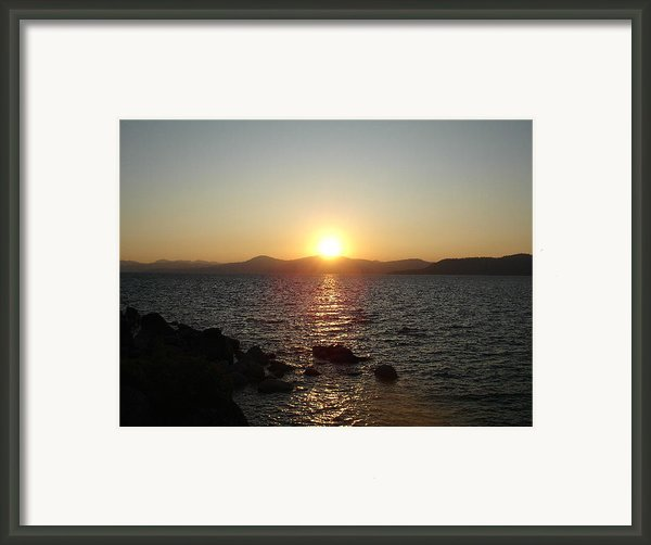 Tahoe Sunset Framed Print By Silvie Kendall