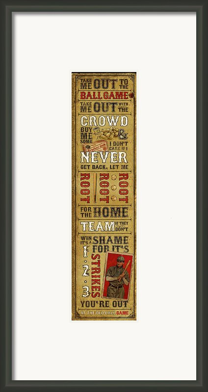 Take Me Out The The Ballgame Framed Print By Jeff Steed