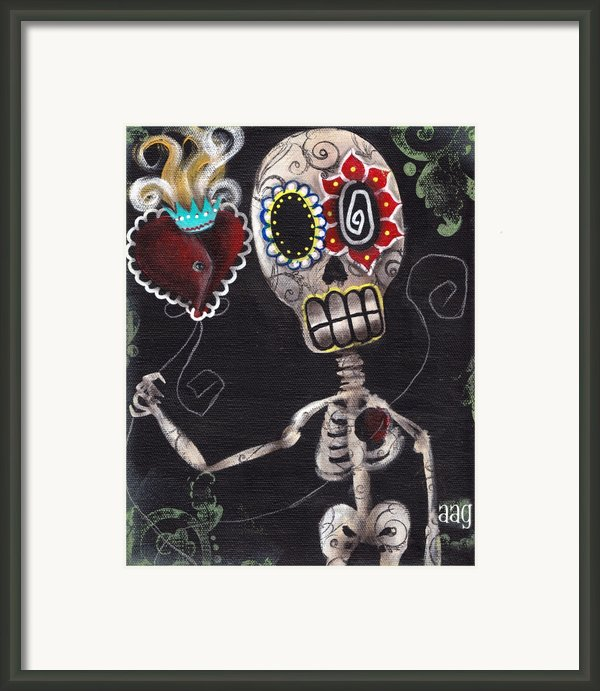 Take My Heart Framed Print By  Abril Andrade Griffith