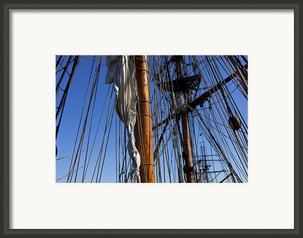 Tall Ship Rigging Lady Washington Framed Print By Garry Gay