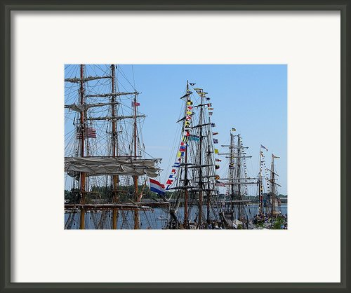Tall Ship Series 9 Framed Print By Scott Hovind