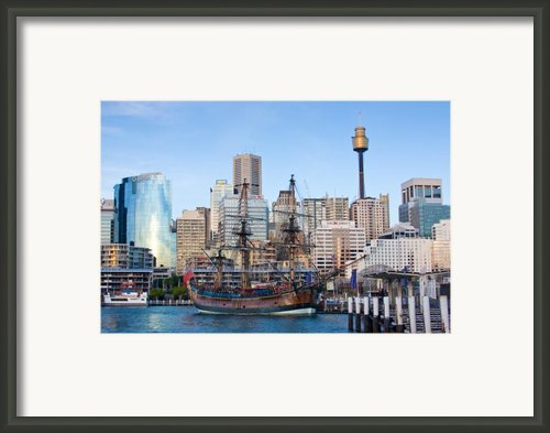 Tall Ships - Sydney Harbor Framed Print By Charles Warren