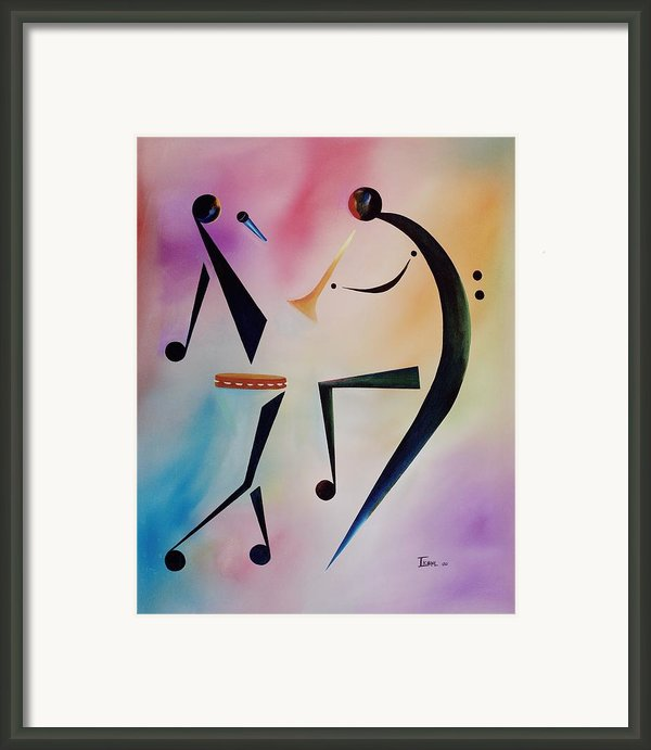 Tambourine Jam Framed Print By Ikahl Beckford
