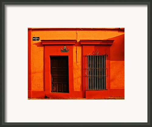 Tangerine Casa By Michael Fitzpatrick Framed Print By Olden Mexico