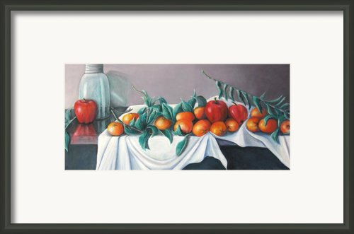Tangerines And Apples Framed Print By Eileen Kasprick