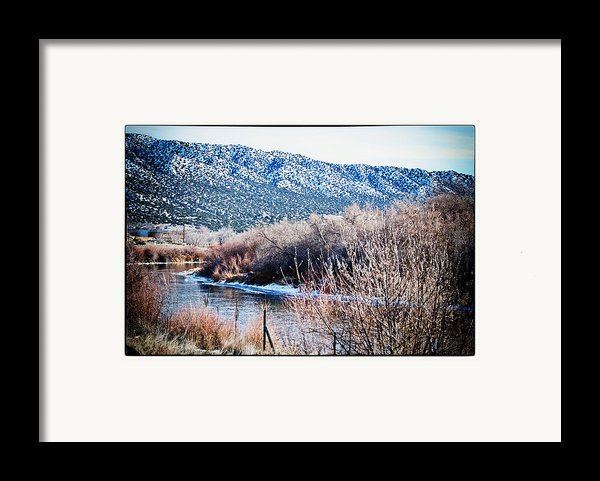 Taos Creek Framed Print By Lisa  Spencer