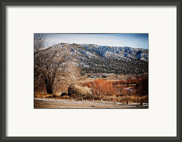 Taos Mountain View 1 Framed Print By Lisa  Spencer