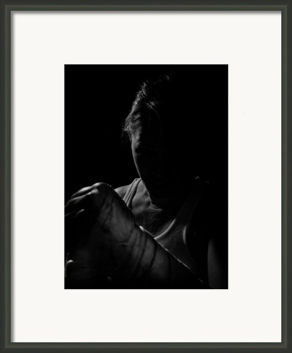 Taped Hands Framed Print By Scott Sawyer
