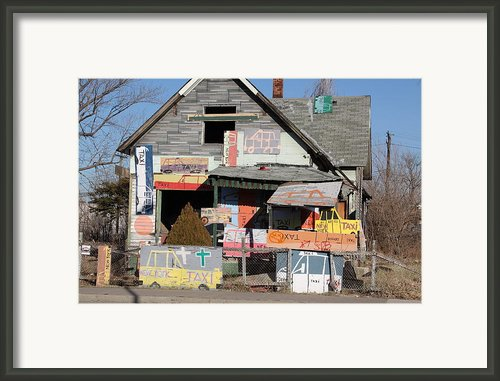 Taxi House Framed Print By Jim Vansant