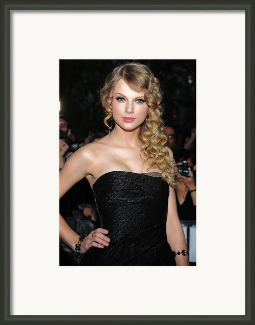 Taylor Swift At Arrivals For Time 100 Framed Print By Everett
