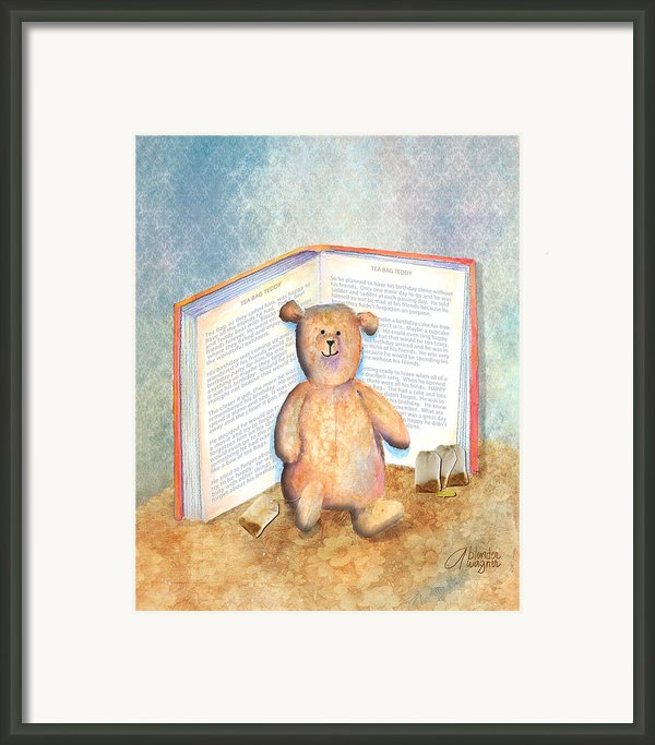 Tea Bag Teddy Framed Print By Arline Wagner