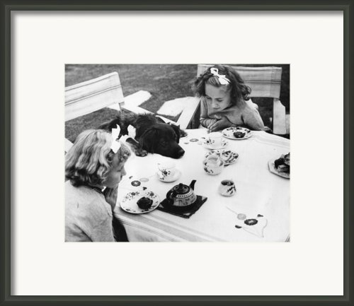 Tea Party Framed Print By Fox Photos