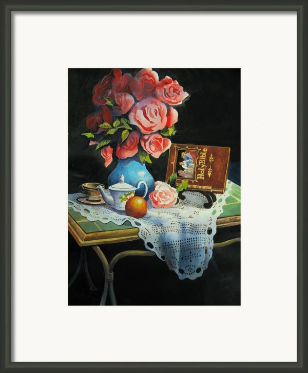 Tea Time Framed Print By Robert Carver