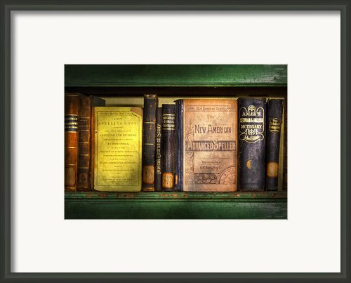 Teacher - Books You Use In School  Framed Print By Mike Savad