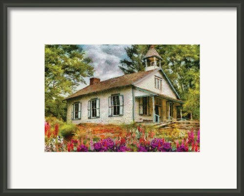 Teacher - The School House Framed Print By Mike Savad