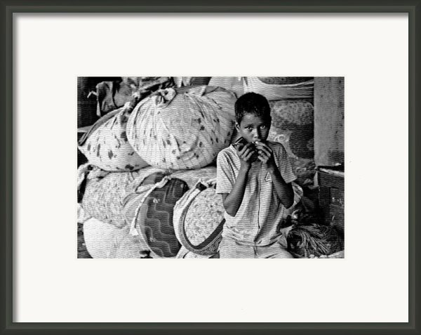 Technology In Sweatshop Framed Print By Kantilal Patel