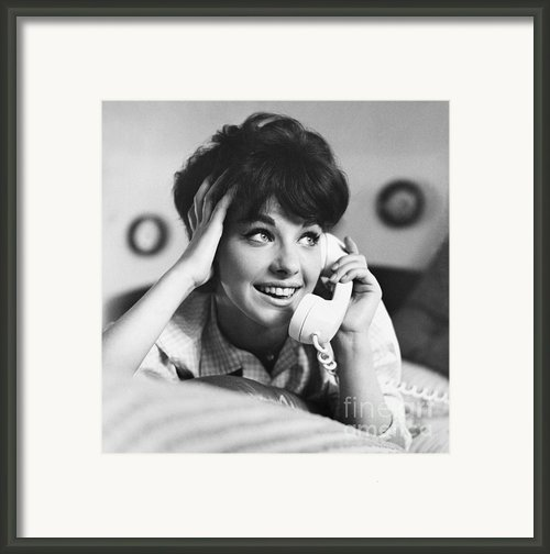 Teenager On The Phone Framed Print By Vivienne Della Grotta And Photo Researchers