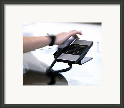 Telephone Use Framed Print By Tony Mcconnell