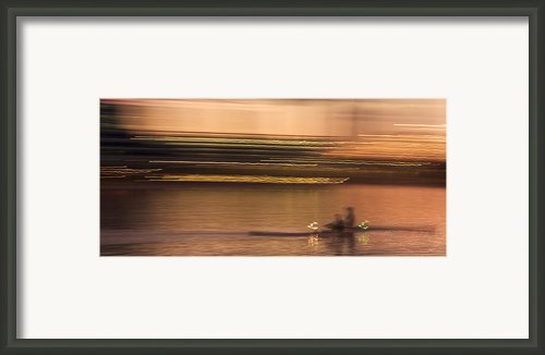 Tempe Town Lake Rowers Abstract Framed Print By Dave Dilli