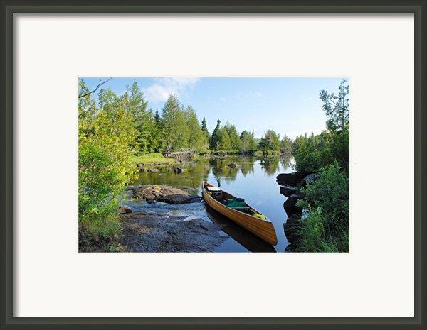 Temperance River Portage Framed Print By Larry Ricker