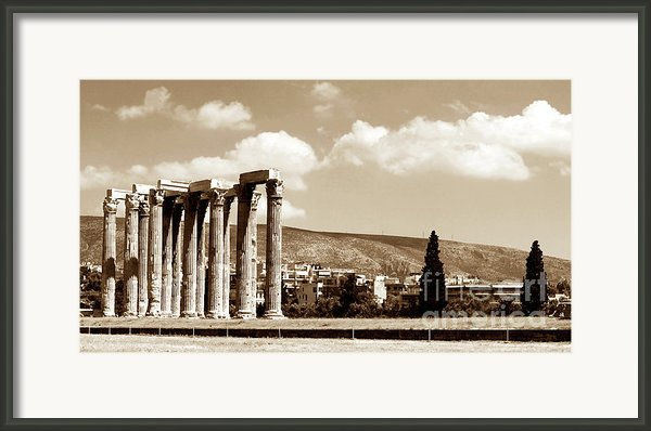 Temple Of Zeus Framed Print By John Rizzuto